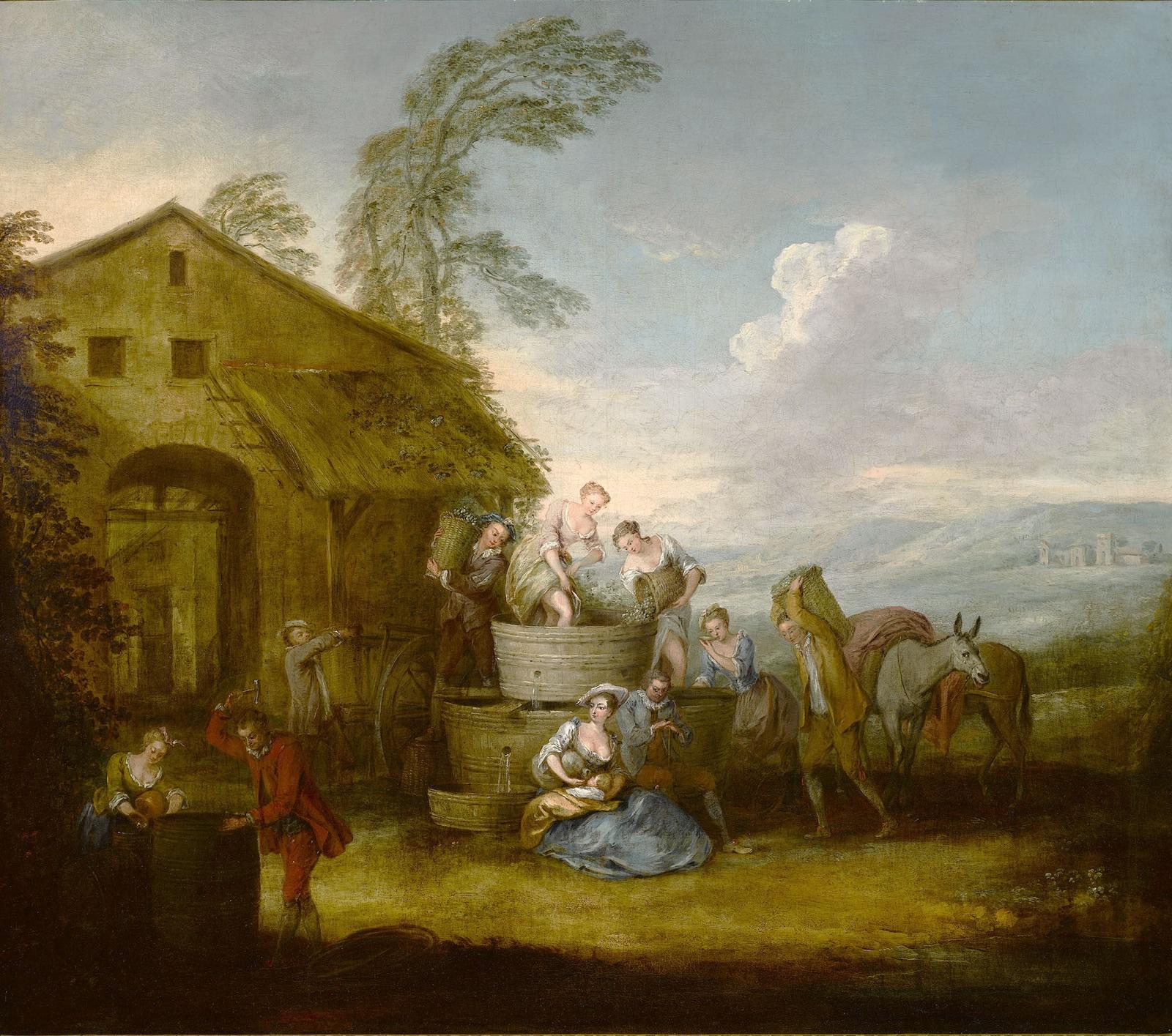 La Vendimia (hacia 1720), de Jean-Baptiste Pater