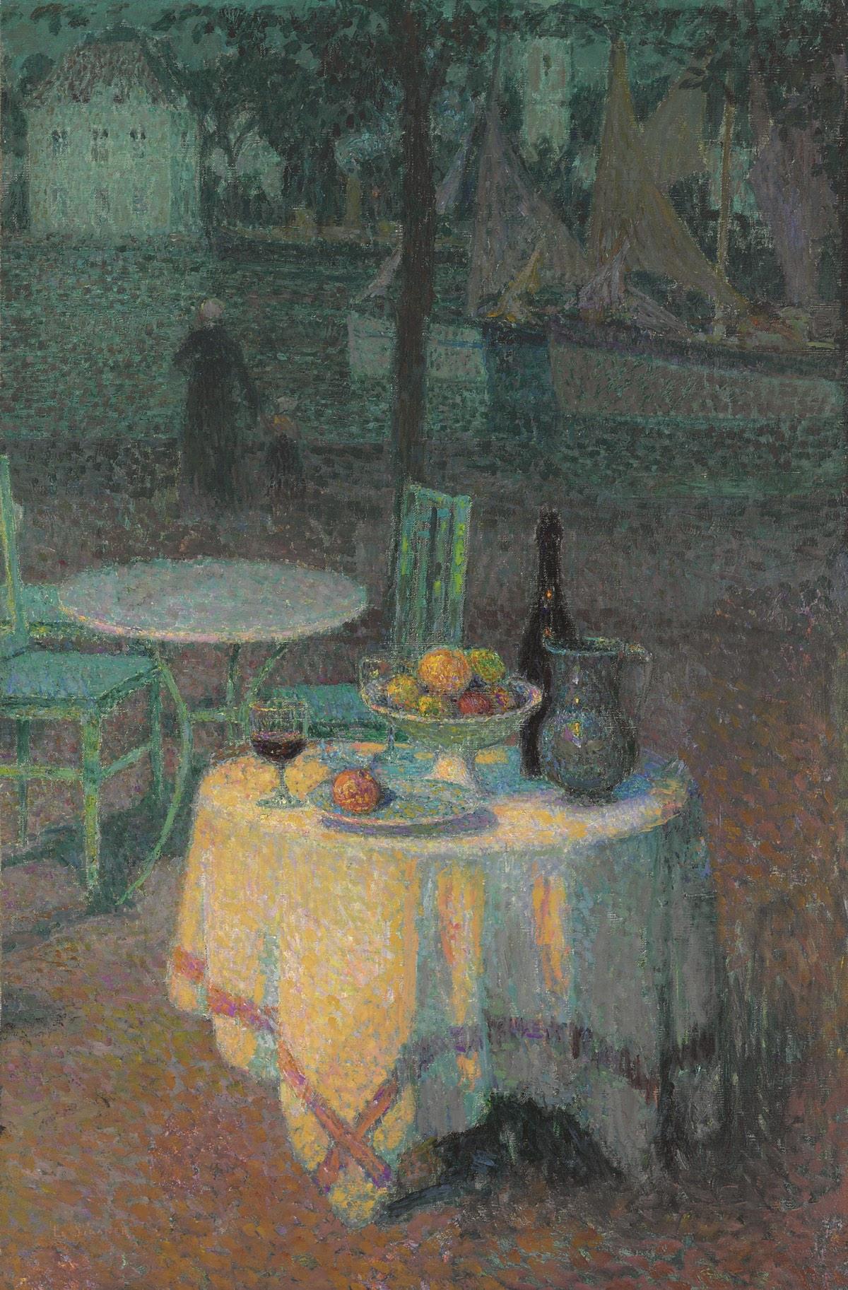 La cafetería del puerto (1923), de Henri Le Sidaner