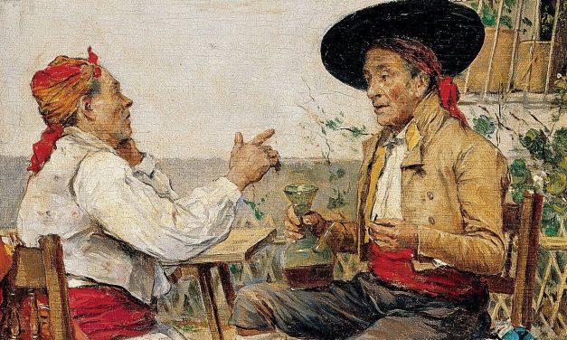 """""""La tertulia"""" (1880), de Joaquín Agrasot Juan"""