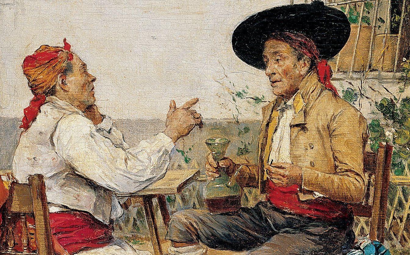 La tertulia (1880), de Joaquín Agrasot Juan 2