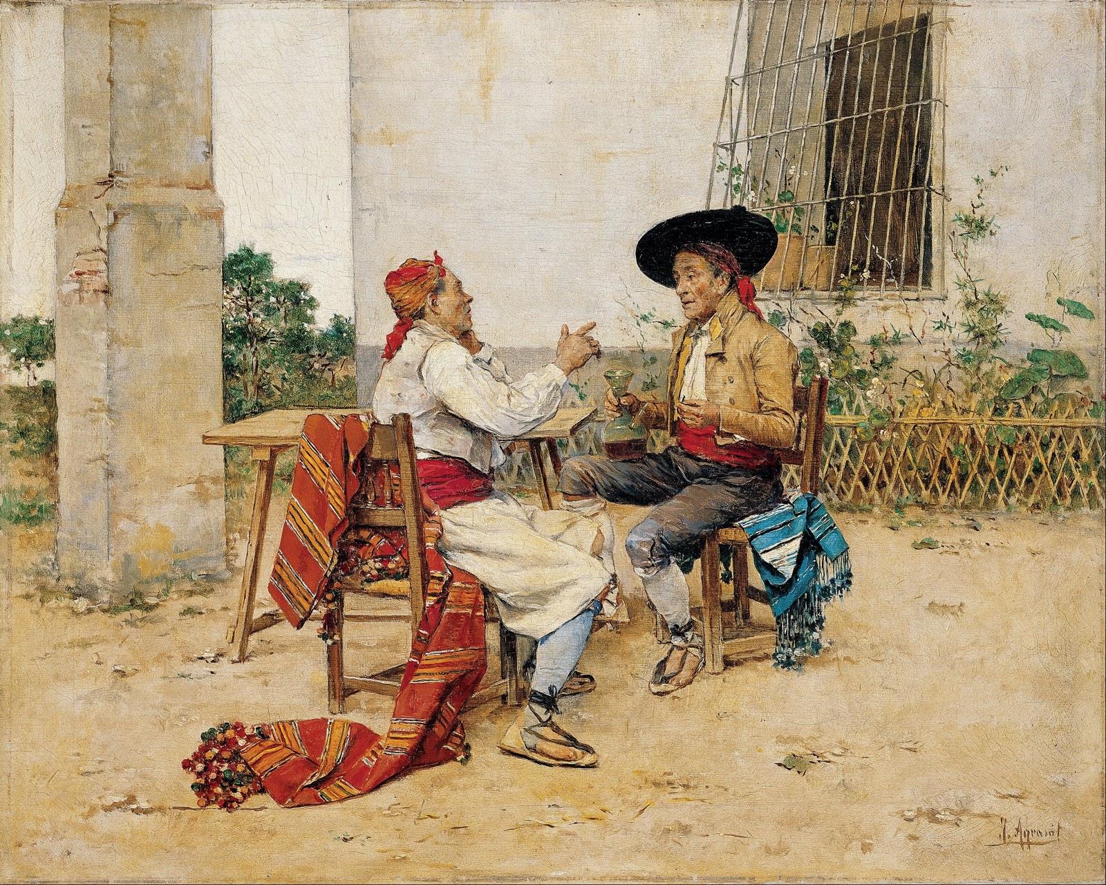 La tertulia (1880), de Joaquín Agrasot Juan
