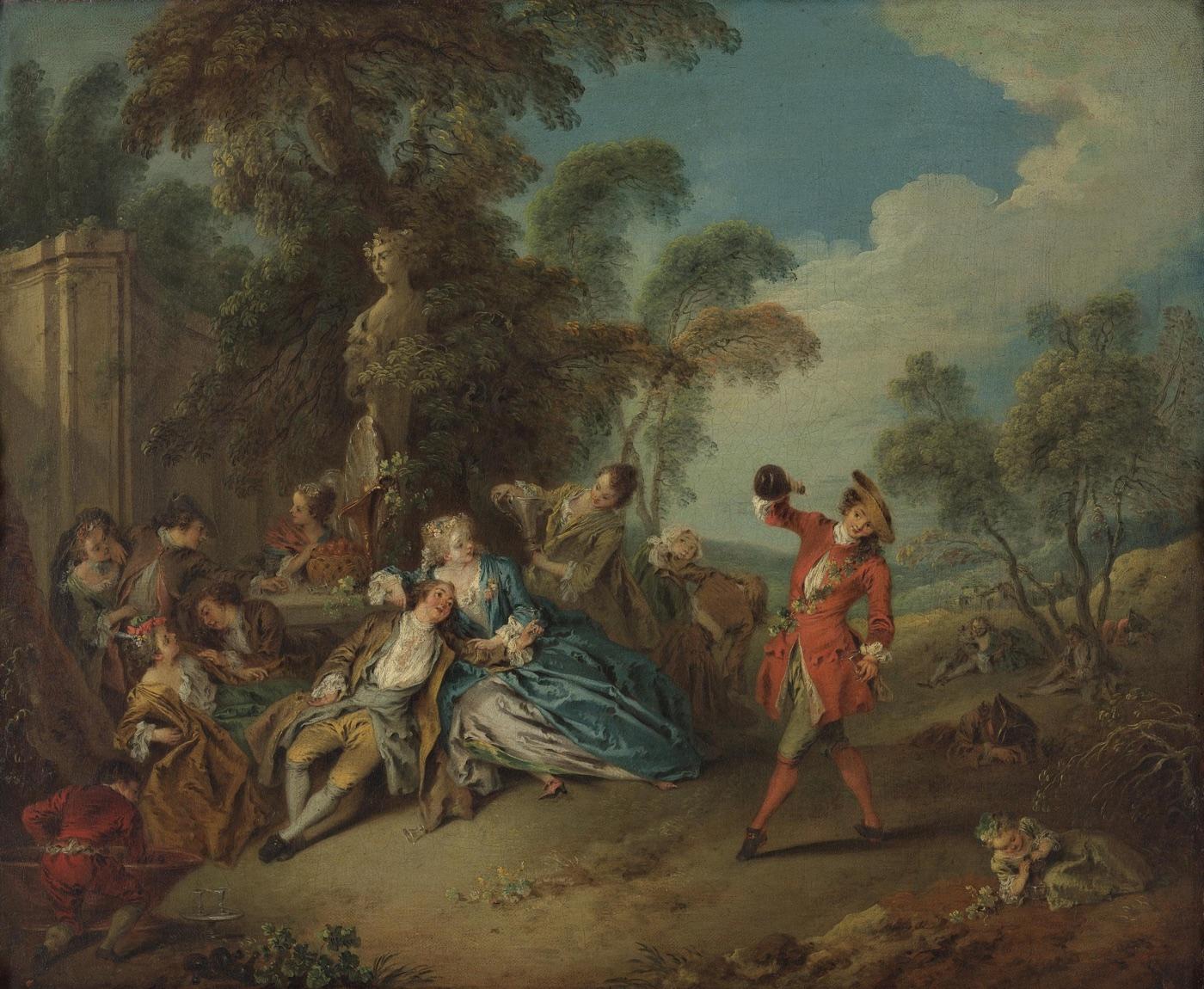 Las alegrías de la vida en el campo (sobre 1730), de Jean-Baptiste Pater-1