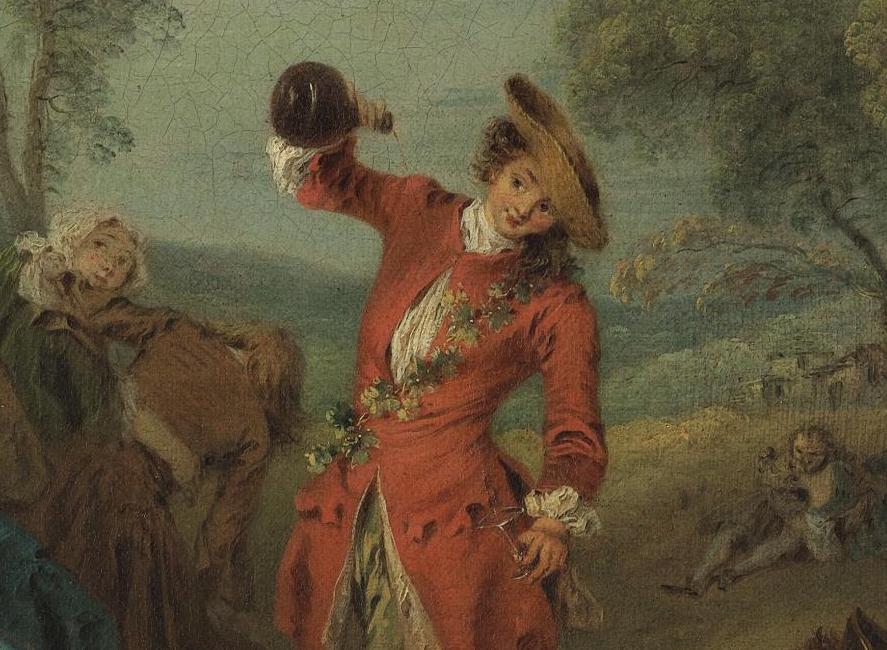 Las alegrías de la vida en el campo (sobre 1730), de Jean-Baptiste Pater-2