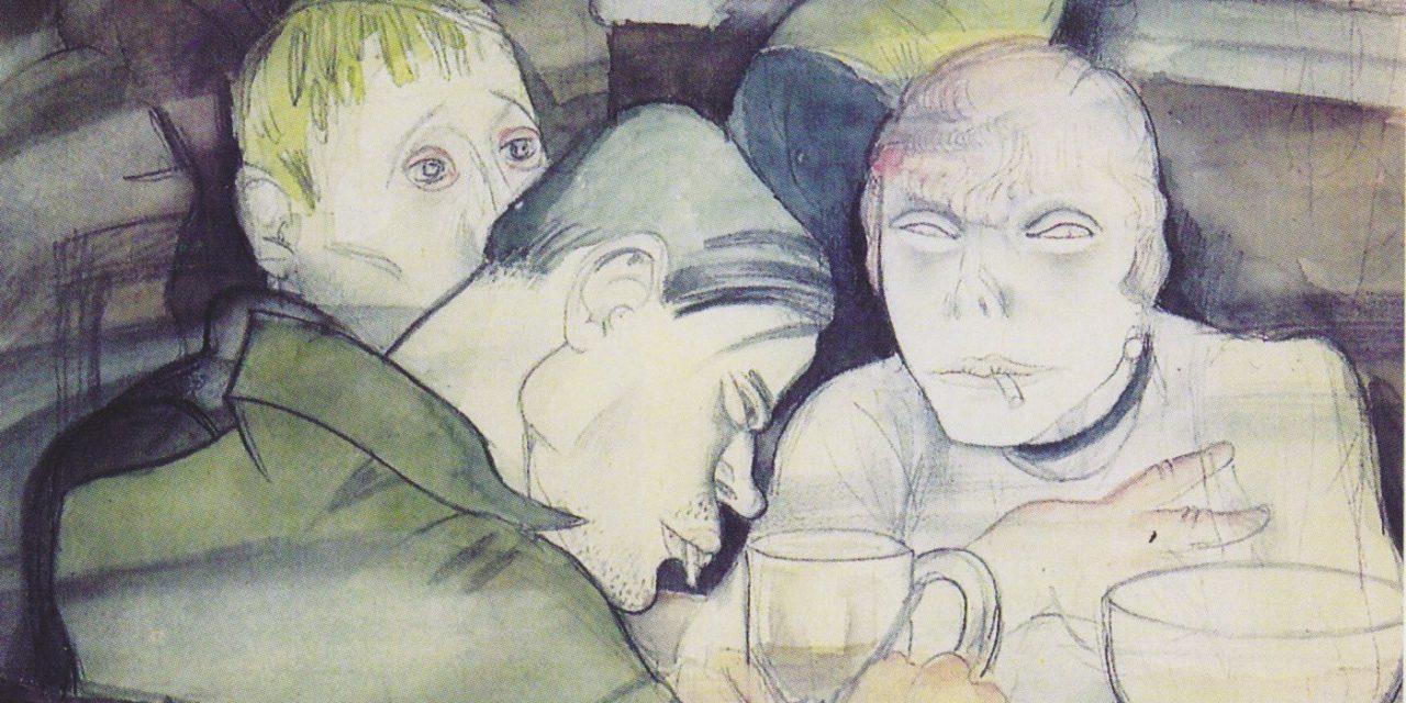 """""""Los Bebedores Contemplativos"""" (1929), de Jeanne Mammen"""