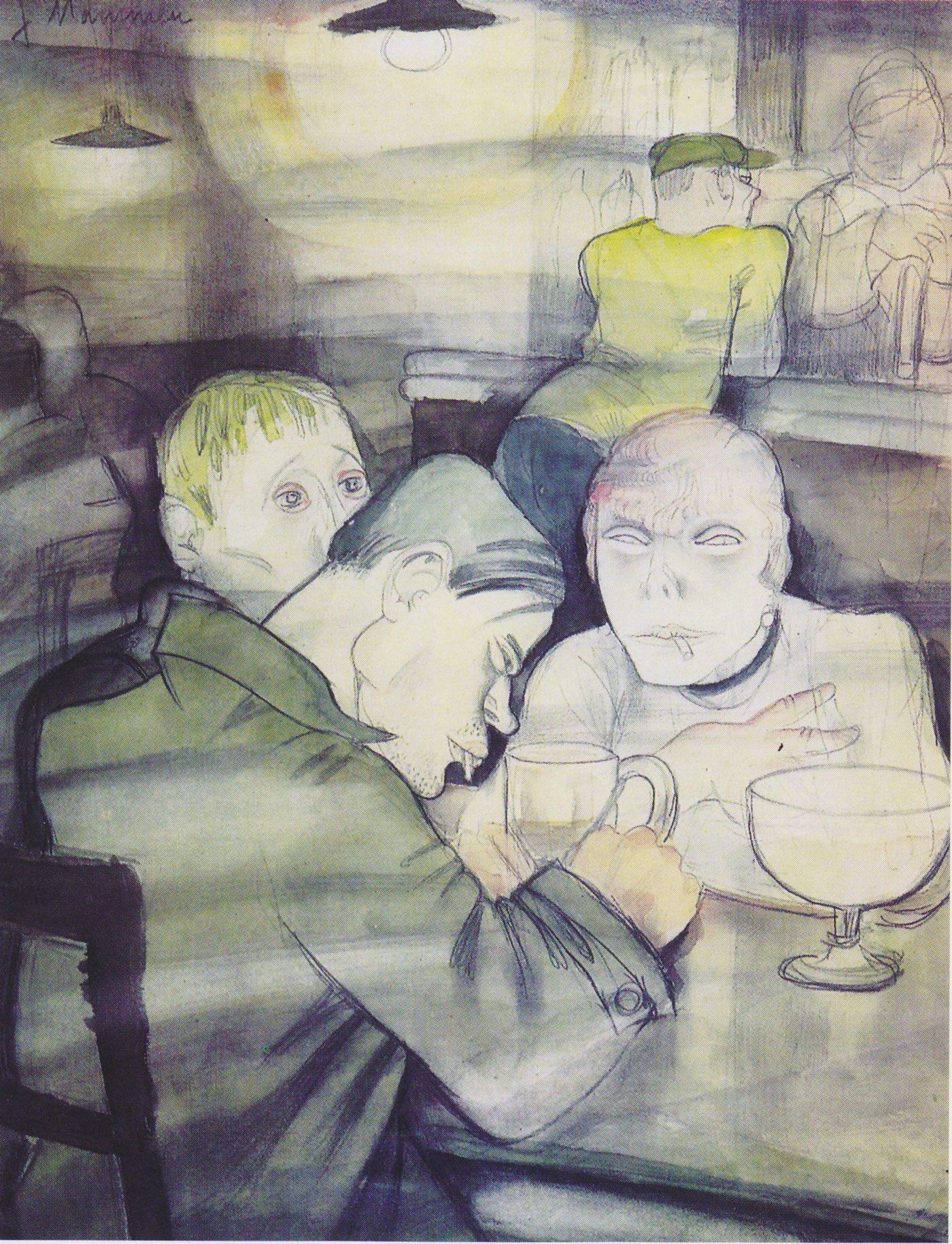 Los Bebedores Contemplativos (1929), de Jeanne Mammen