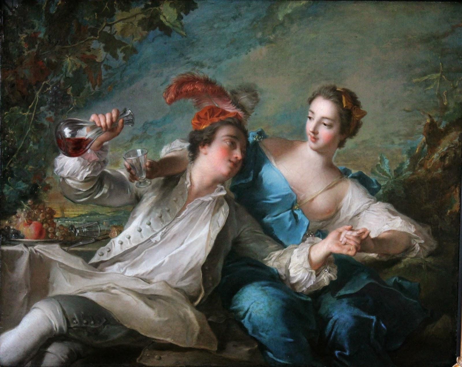 Los amantes (1744), de Jean-Marc Nattier