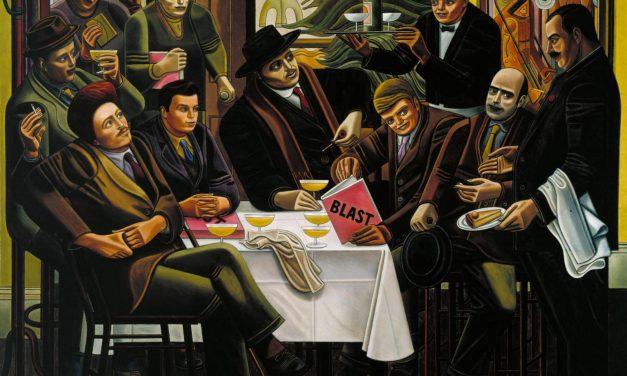 """""""Los vorticistas del Restaurant de la Tour Eiffel"""" (1915), de William Roberts"""