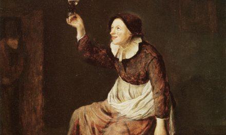 """""""Mujer bebiendo"""" (1648), de Philips Koninck"""