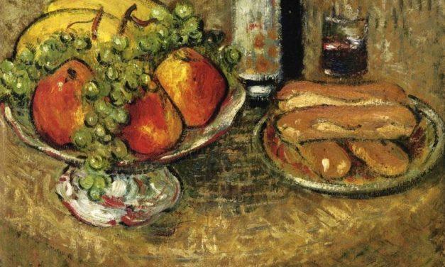 """Naturaleza muerta con fruta con tazón de color rosa"" (comienzo del siglo XX), de Gustave Loiseau"