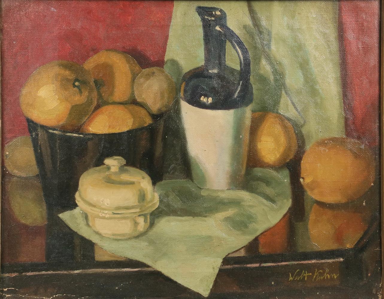 Naturaleza muerta con fruta, jarra y vajilla (1916), de Walt Kuhn
