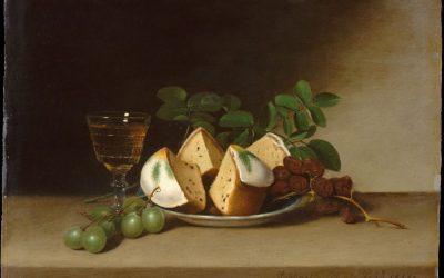 """""""Naturaleza muerta con pastel"""" (1818), de Raphaelle Peale"""