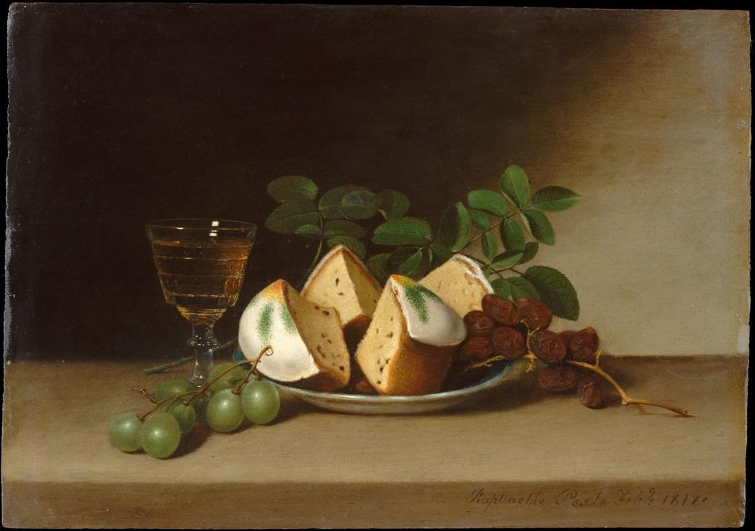 Naturaleza muerta con pastel (1818), de Raphaelle Peale