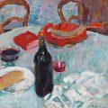 Naturaleza muerta con una botella de vino (1904), de Alexej von Jawlensky