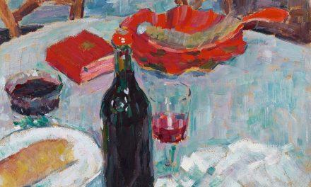 """""""Naturaleza muerta con una botella de vino"""" (1904), de Alexej von Jawlensky"""