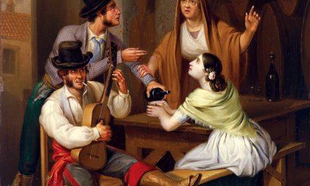 """""""No más vino. Escena de taberna"""" (1847), de Ángel María Cortellini"""