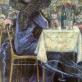 Pareja en Café Restaurante (1900), de Hans Baluschek