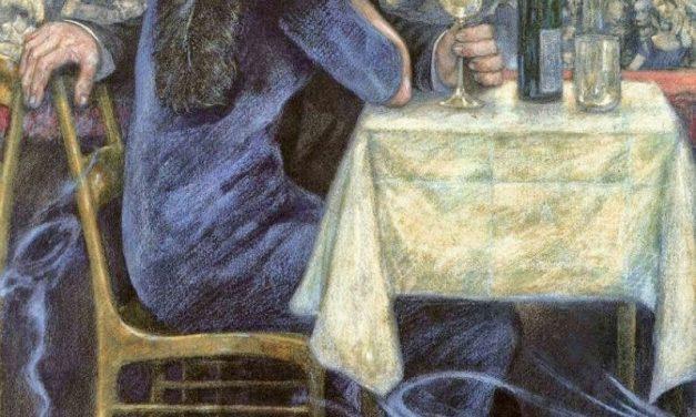 """Pareja en Café Restaurante"" (1900), de Hans Baluschek"