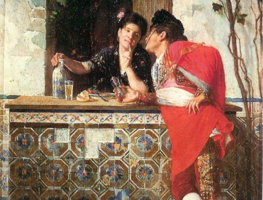 """""""Pelando la pava"""" (1873), de Germán Álvarez Algeciras"""