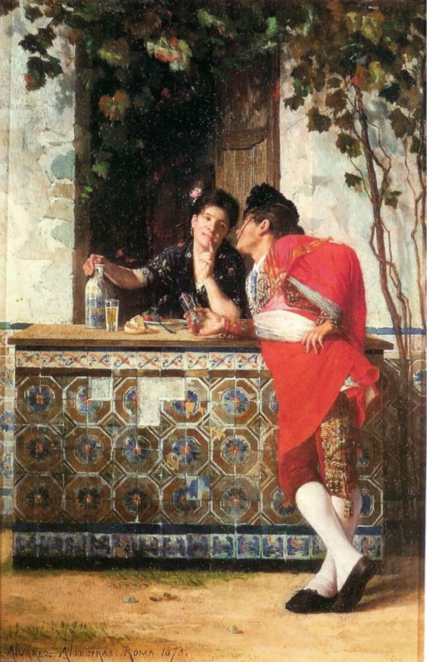 Pelando la pava (1873), de Germán Álvarez Algeciras