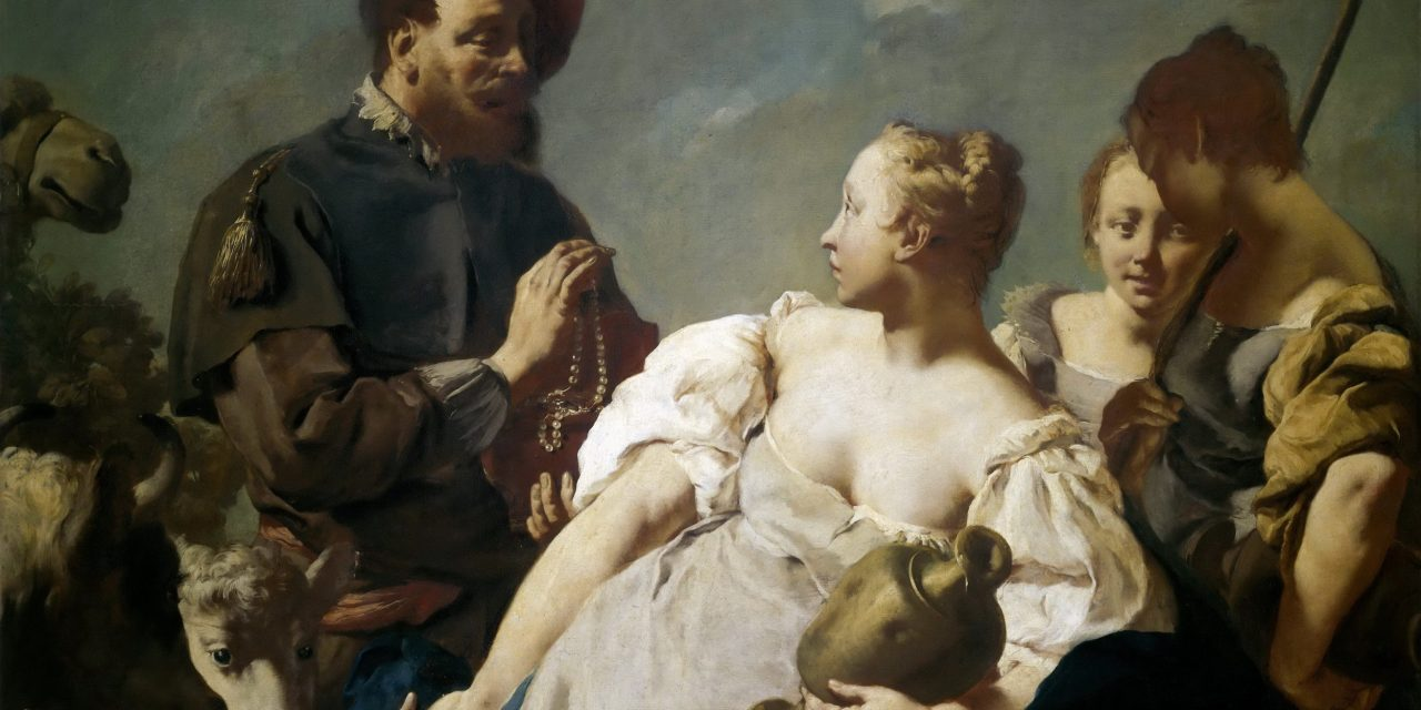 """Rebecca en el pozo"" (1740), de Giovanni Battista Piazzetta"