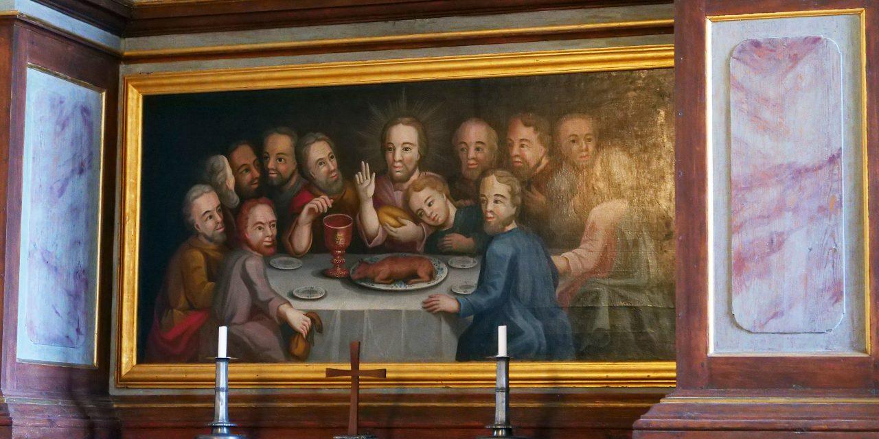 """""""Retablo de Piikkiö: la última cena"""" (1776), de Gustaf Lucander"""