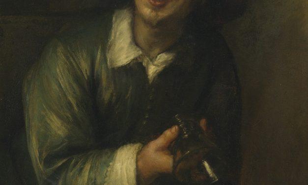 """""""Retrato de Jan Lievens como bebedor con un vaso y una jarra""""  (1660s), de Jan Lievens"""