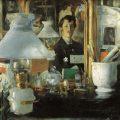 Retrato en el espejo, París (1882), de Maurice Lobre