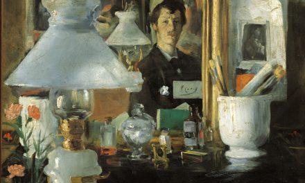 """""""Retrato en el espejo, París"""" (1882), de Maurice Lobre"""