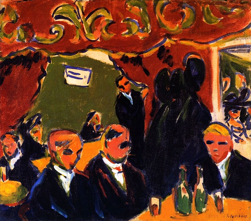 Taberna (1909), de Ernst Ludwig Kirchner