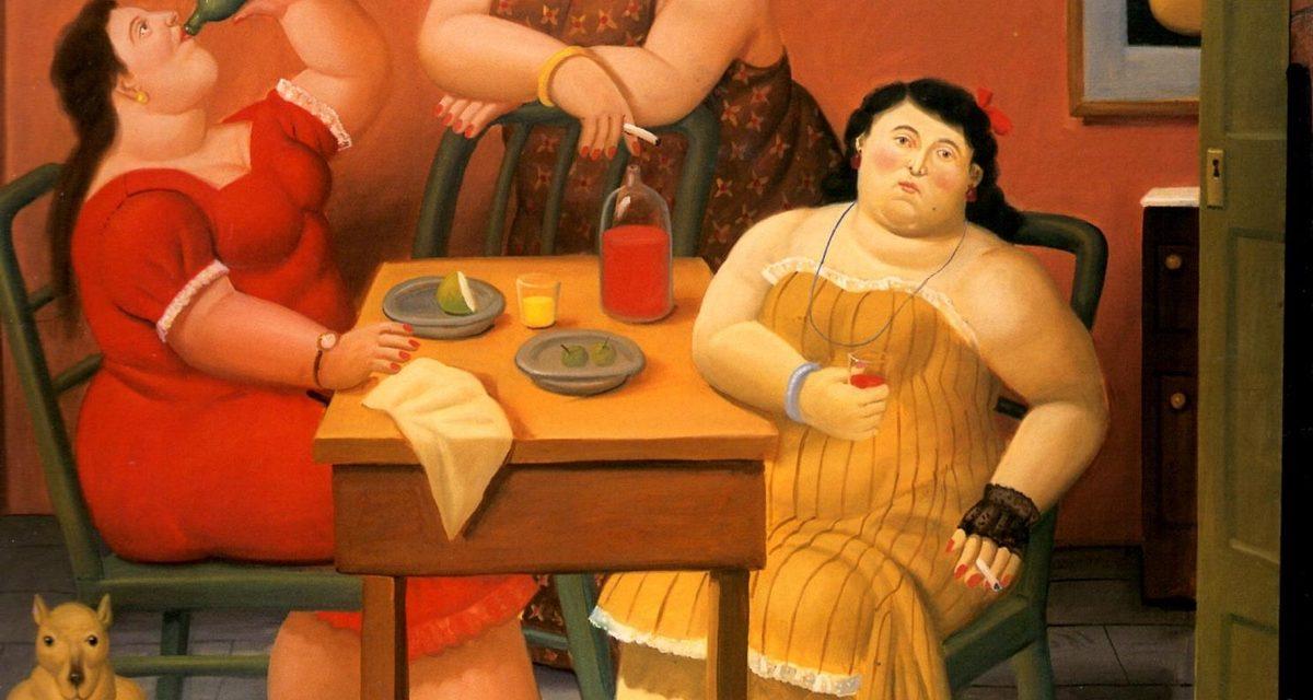 """""""Tres mujeres bebiendo"""" (2006), de Fernando Botero"""