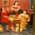 Tres mujeres bebiendo (2006), de Fernando Botero