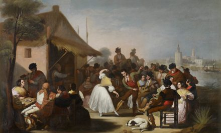 """Un baile en Triana"" (1850), de Francisco de Paula Escribano Liñán"