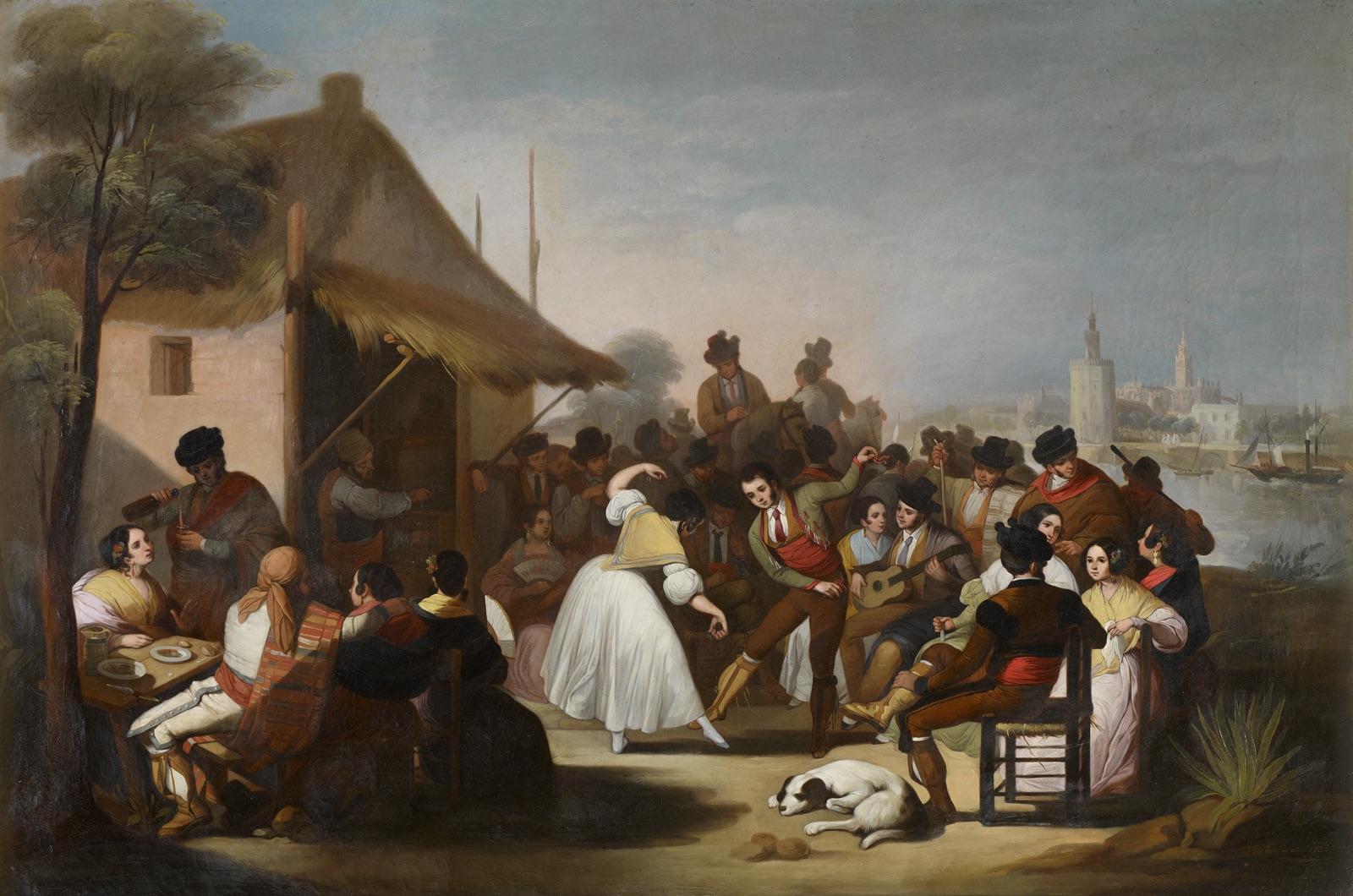 Un baile en Triana (1850), de Francisco de Paula Escribano Liñán