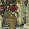 Un bodegón con flores en un florero (1910), de Vilmos Huszar