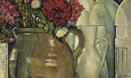 """Un bodegón con flores en un florero"" (1920), de Vilmos Huszar"