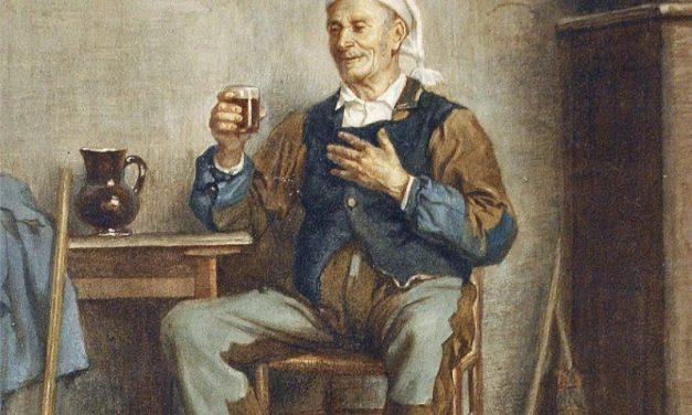 """Un buen trago"" (1880), de Charles Moreau"
