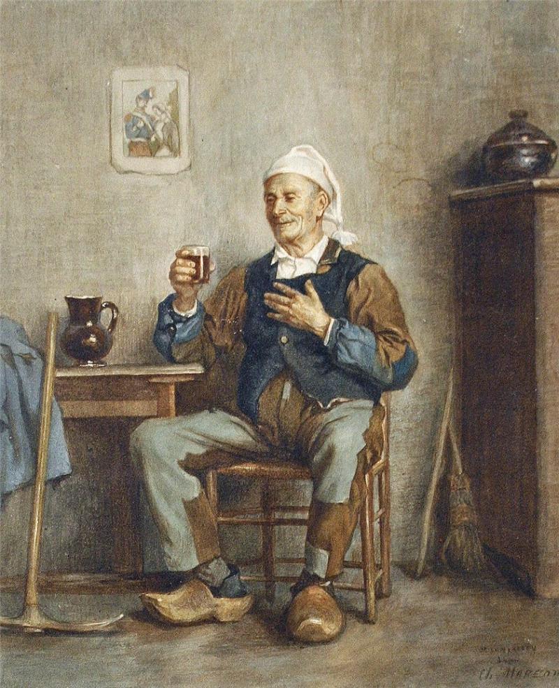 Un buen trago (1880), de Charles Moreau