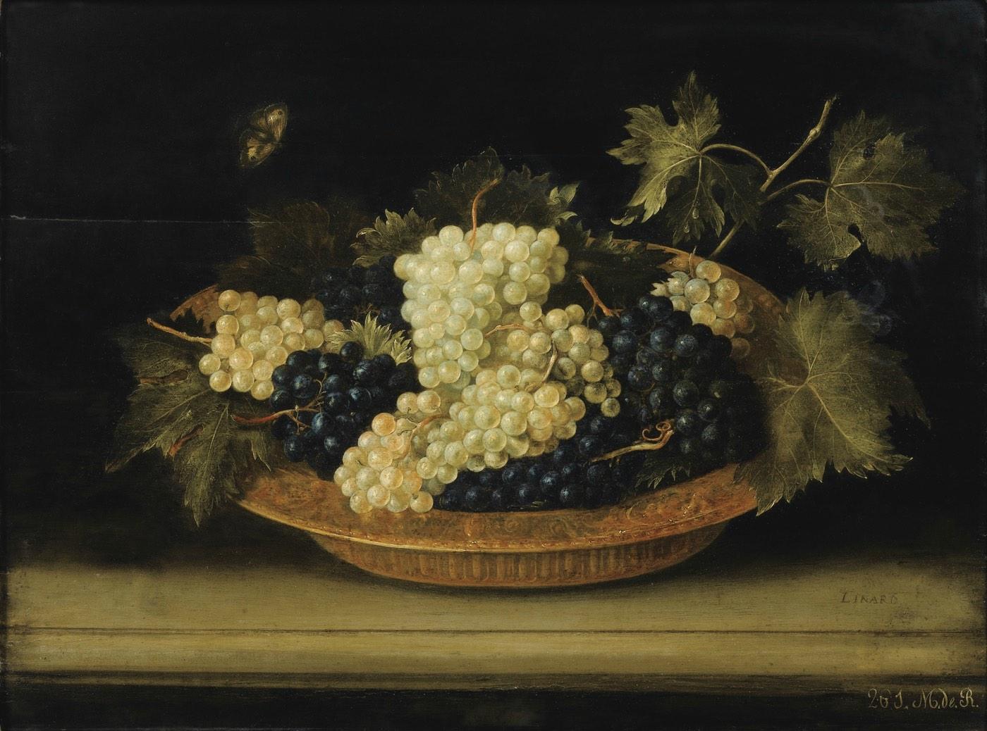 Uvas sobre la mesa (1631), de Jacques Linard