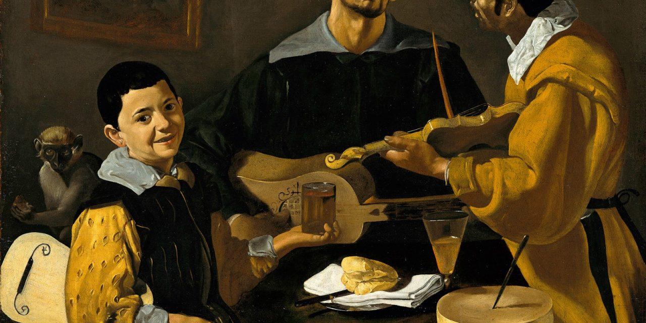 """""""Tres músicos"""" (1617 – 1618), de Diego Velázquez"""