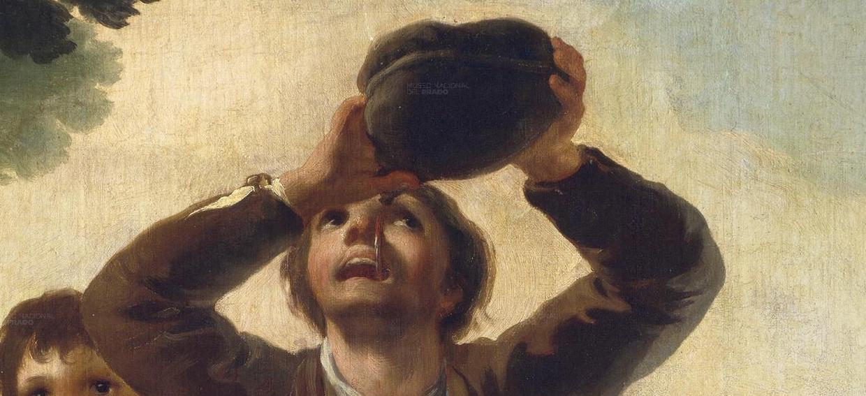 """Hombre que bebe"" (1777), de Francisco de Goya"