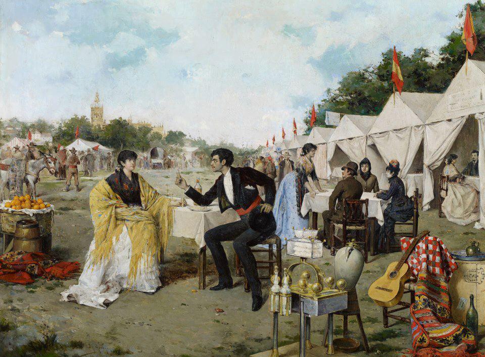 En la feria, de Rafael Arroyo Fernández, 1886.