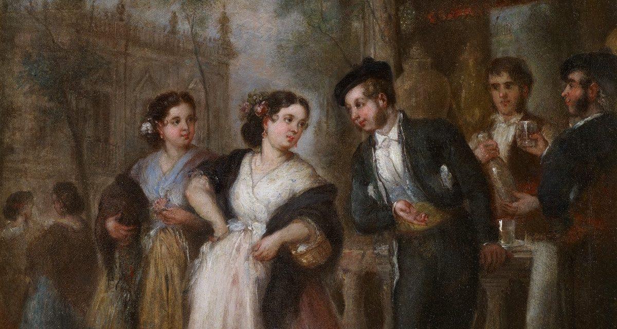 """""""El refresco"""" (1855), de José María Romero y López"""