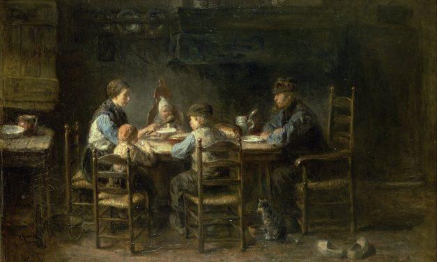 """""""Comida de familia de campesinos"""" (1882), de Jozef Israëls"""