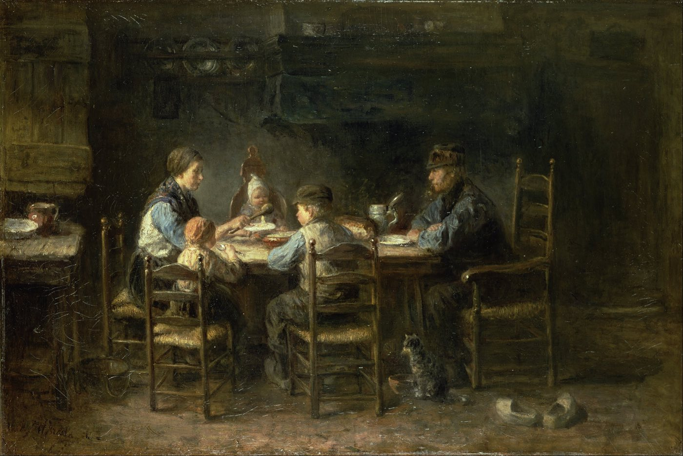 Jozef_Israëls_-_Peasant_family_at_the_table_-_Google_Art_Project