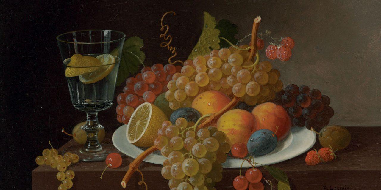 """""""Still Life with Fruit"""" (siglo XIX), de Paul Lacroix"""