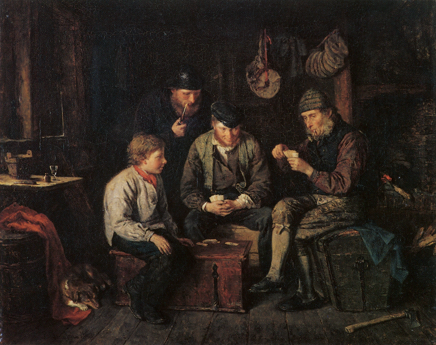 Sailors Playing Cards (1871)