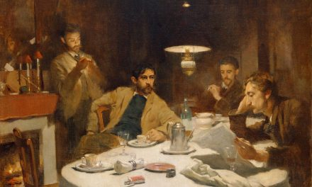 """The Ten Cent Breakfast"" (1887), de Willard Leroy Metcalf"
