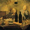 """""""La familia después de la comida, o la cena griega"""" (1891), de Édouard Vuillard"""