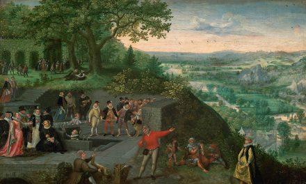 """""""El emperador Rodolfo II en una cura de bebida"""" (hacia 1593), de Lucas van Valckenborch"""