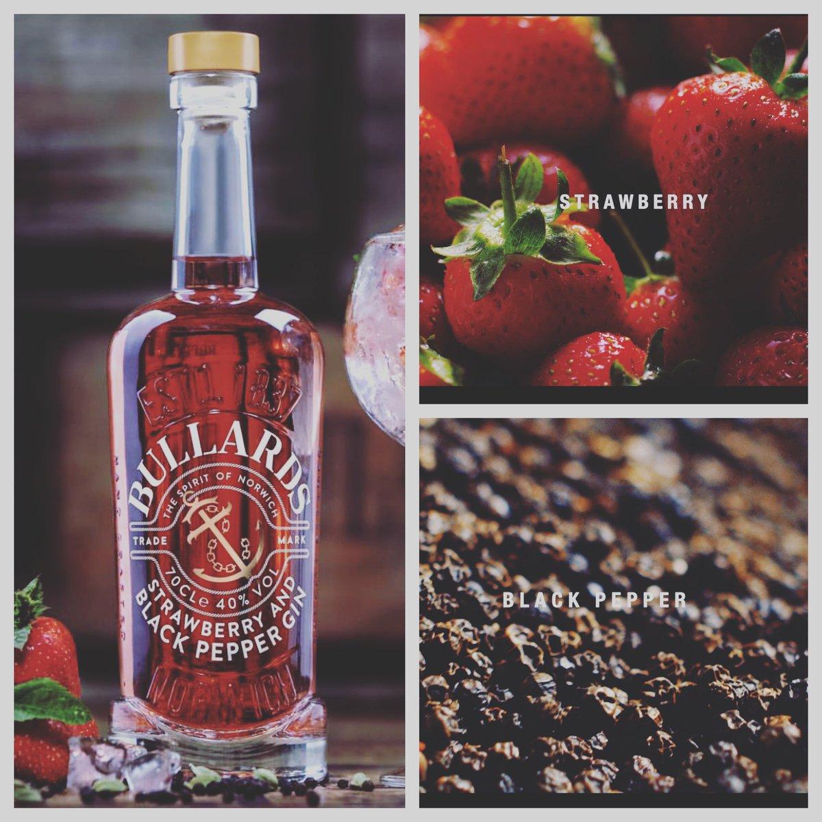 bullards strawberry and black pepper gin